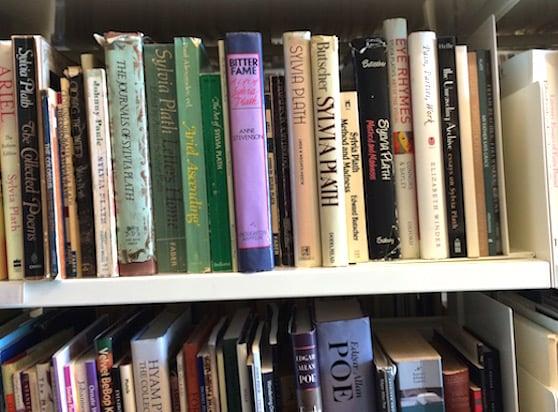 poets house NYC sylvia plath shelf