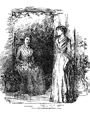 Illustration from The Giant Wistaria by Charlotte Perkins Gilman