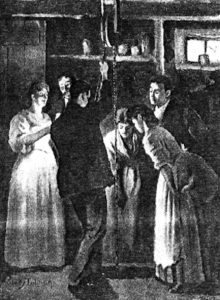 Original illustration from The Giant Wistaria by Charlotte Perkins Gilman