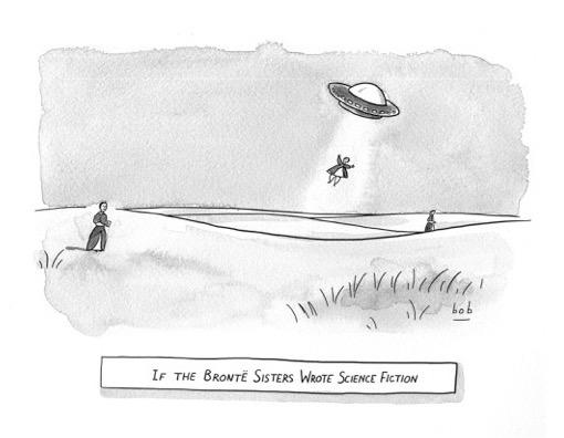 Brontë sisters cartoon by Bob Eckstein