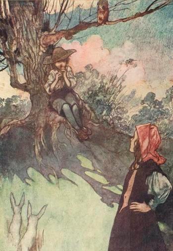 Charles Robinson illustration from The Secret Garden, 1911 edition