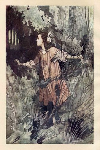 Fronticepiece from The Secret Garden by Charles Robinson, 1911 edition