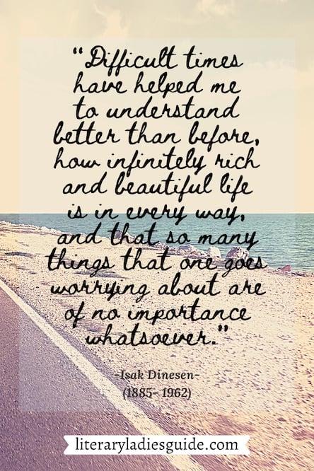 Isak Dinesen quote