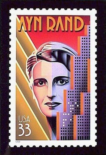 Ayn Rand postage stamp US