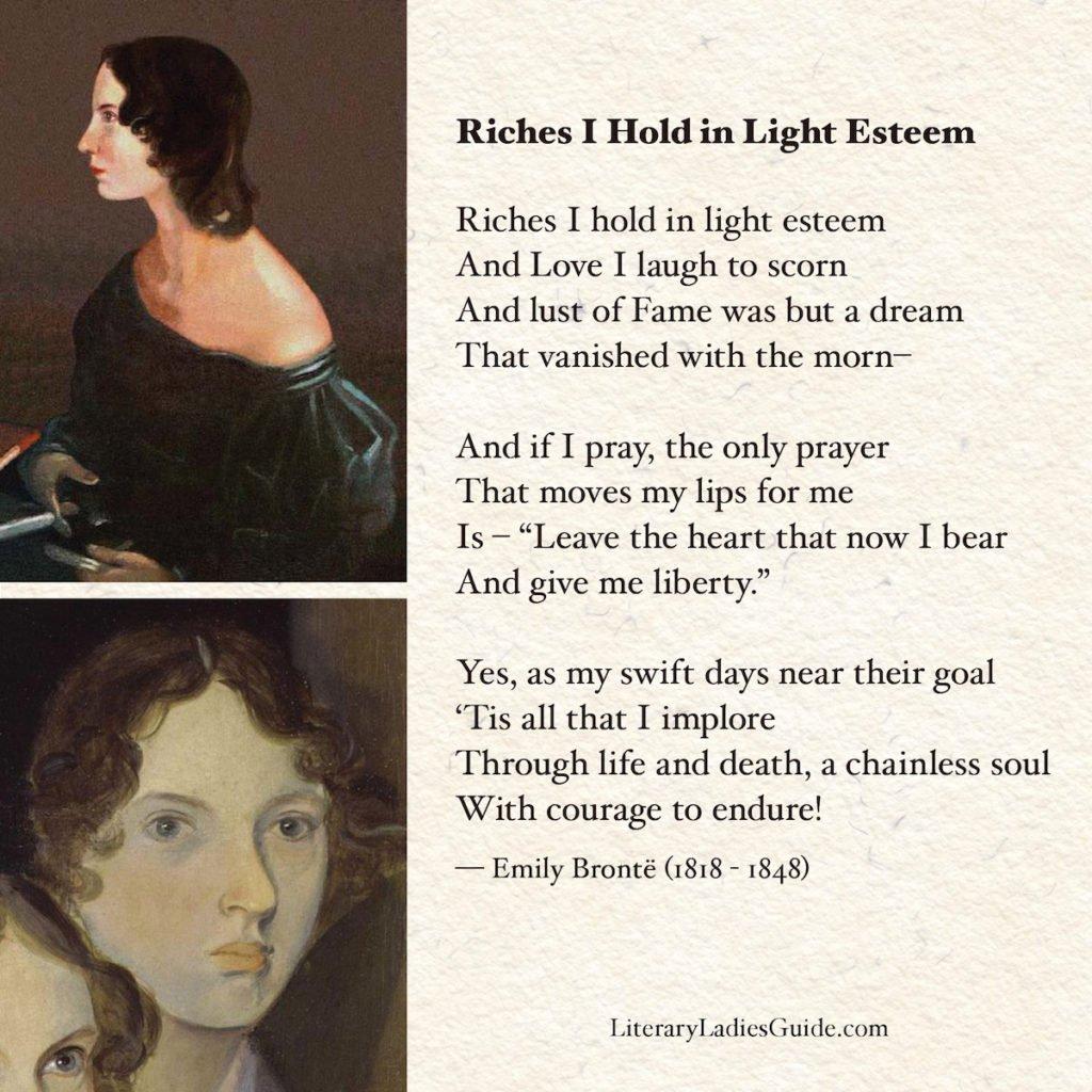 Emily Bronte poem: No coward soul is mine