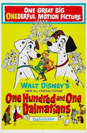One Hundred and One Dalmatians 1961 movie poster