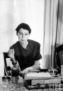 Carson McCullers at her desk
