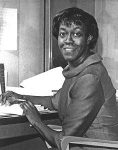 Gwendolyn Brooks at her desk