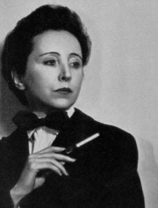 Anais Nin in tux smoking