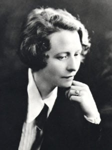 Edna St. Vincent Milay in a suit