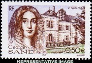 George Sand stamp France