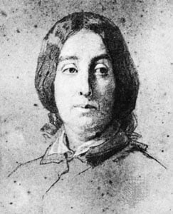 George Sand - drawing