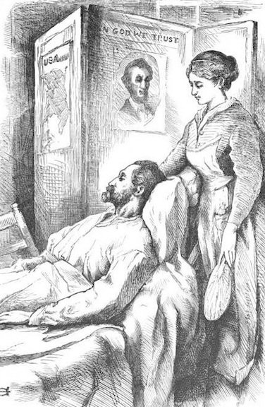 Illustration from later edition of Hospital Sketches by Louisa May Alcott