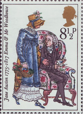 Jane Austen Emma & Mr. Wodehouse Stamp 1975