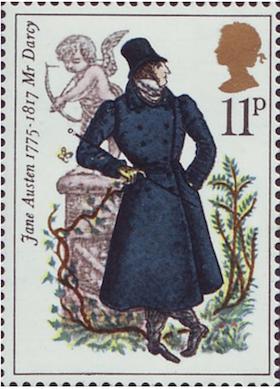 Jane Austen Mr. Darcy Stamp 1975