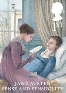 Jane Austen Sense and Sensibility stamp 2013