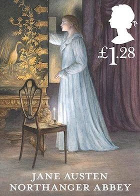 Jane Austen Stamp Northanger Abbey 2013