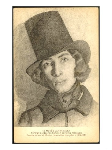 Portrait of George Sand in Top hat
