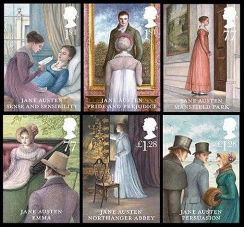 jane Austen Stamp set