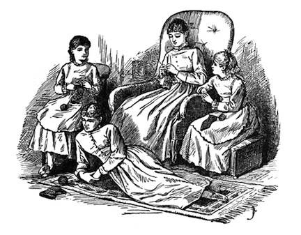 Illustration by Frank T. Merrill from the 1896 edition of Little Women