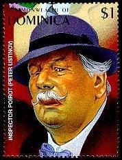 Agatha Christie - Hercule Poirot stamp