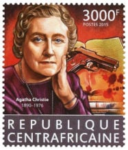 Agatha Christie Stamp 125th anniversary Republique Centrafricaine