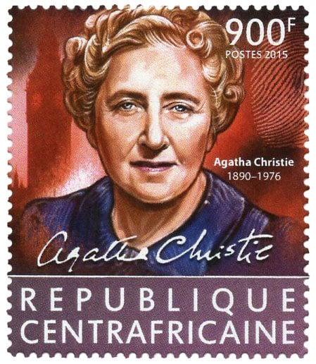 Agatha Christie Stamp - Republique Centrafricaine