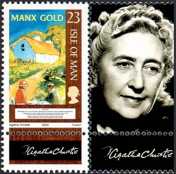 Agatha Christie stamp Isle of Man
