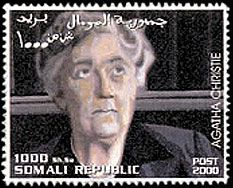 Agatha Christie stamp Somalia