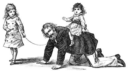 Illustration by Frank T. Merrill of Professor Bhaer from Little Women by Louisa May Alcott