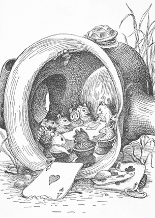 Illustration by Garth Williams from Rescuers by Margery Sharp (1959)