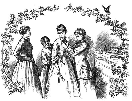 Illustration of Meg's wedding by Frank T Merrill from Little Women by Louisa May Alcott
