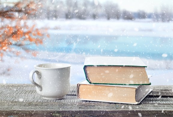Book in snow