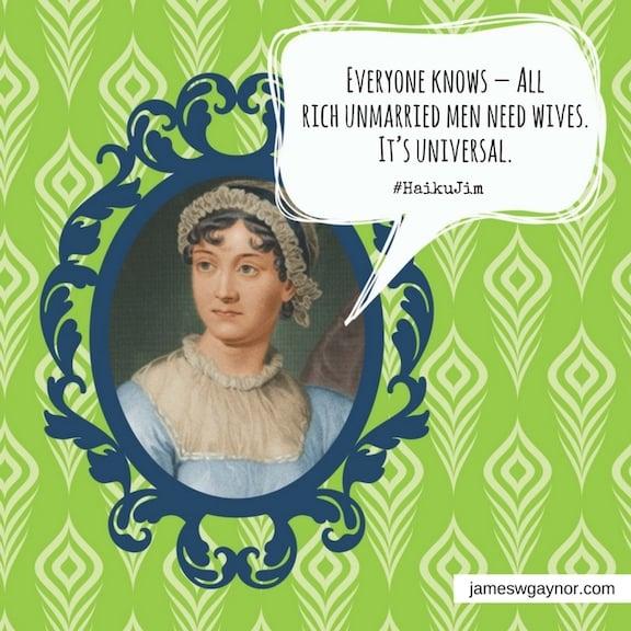 Jane Austen on rich men needing wives