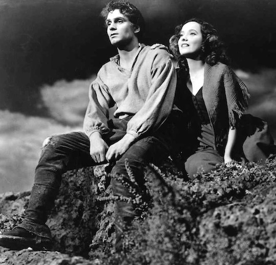 Laurence Olivier and Merle Oberon in Wuthering Heights 1939 film