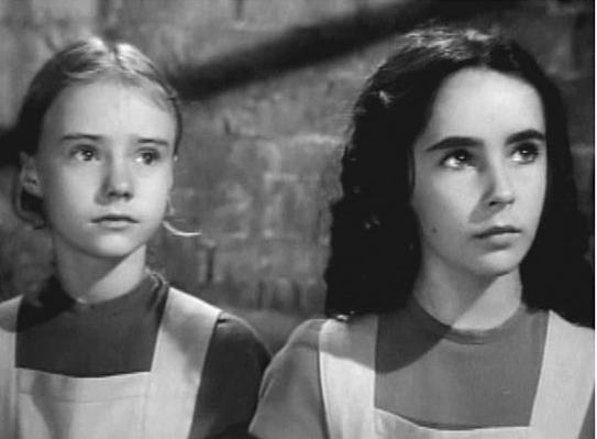 Peggy Ann Garner and Elizabeth Taylor in Jane Eyre 1943