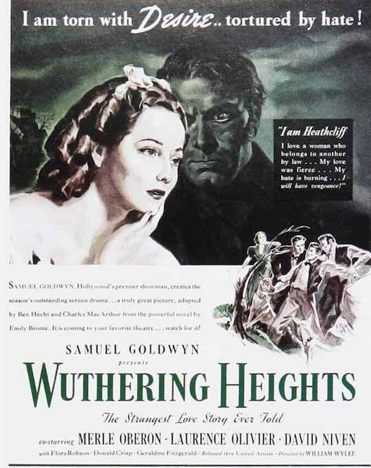 Wuthering heights 1939 film poster