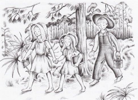 illustration from Strawberry Girl by Lois Lenski