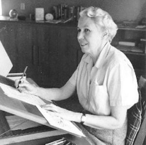 lois lenski at her desk