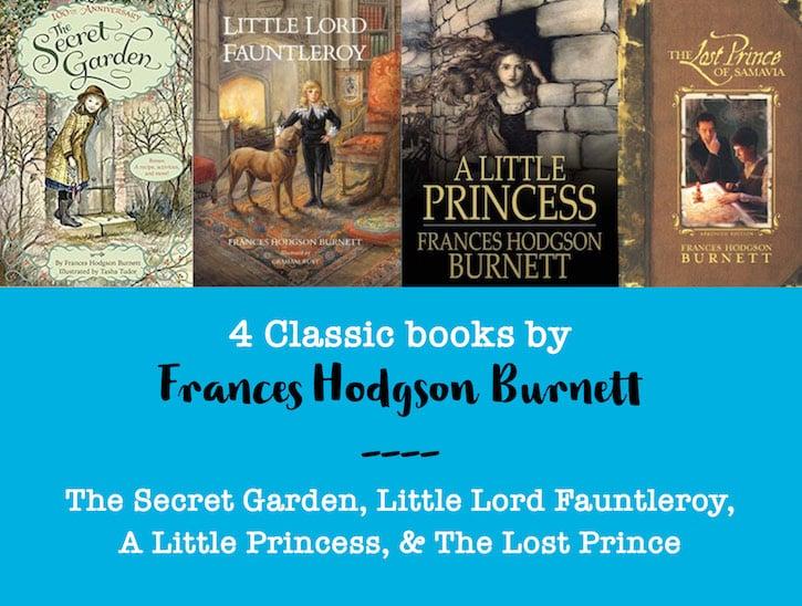 4 classic books by Frances Hodgson Burnett