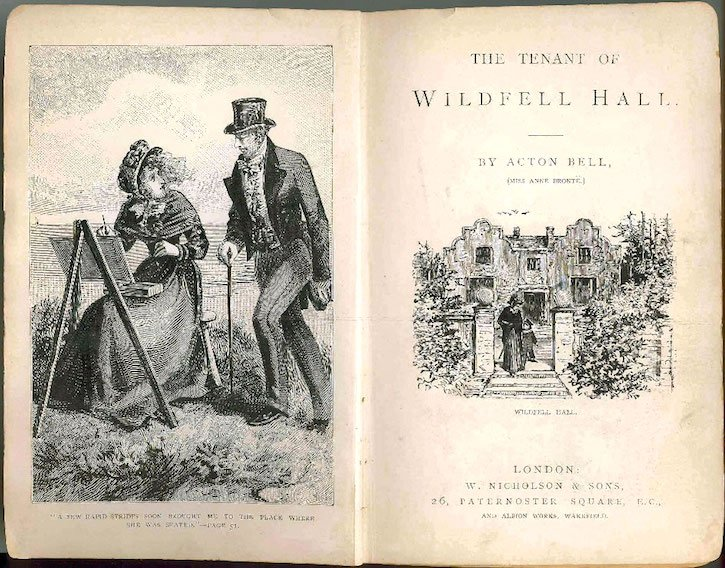 inside cover of The Tenant of Wildfell Hall