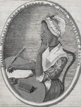 Phillis Wheatley, first African-American poet