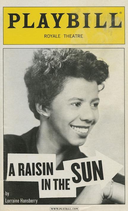 A Raisin in the Sun by Lorraine Hansberry - Playbilll