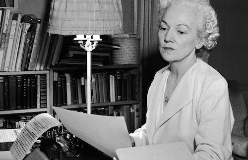 katherine anne porter at her writing desk