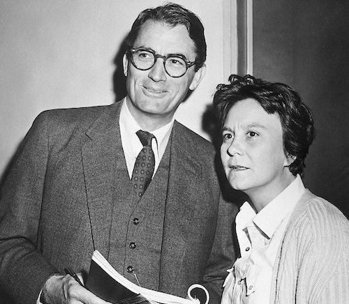 Gregory Peck with Harper Lee - To Kill a Mockingbird film