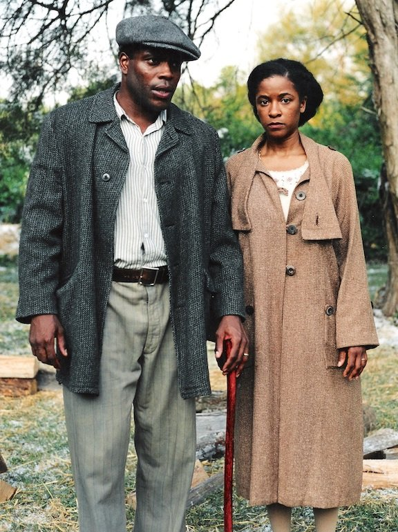 chad coleman and tkeyah crystal keymah in the short film the gilded six bits based on the story by Zora Neale Hurston