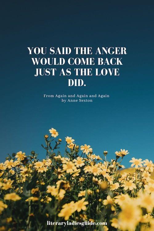Anne Sexton Poem fragment