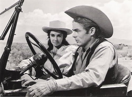 Elizabeth Taylor and James Dean in Giant-1956