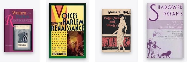 Books on Women writers of the Harlem Renaissance