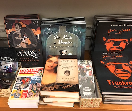 Books relating to Mary Shelley and Frankenstein